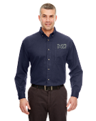 UltraClub Adult Cypress Long-Sleeve Twill with Pocket