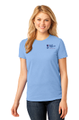 Port & Company® Ladies Core Cotton Tee-2 COLOR Left Chest