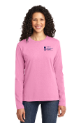 Port & Company® Ladies Long Sleeve-2COLOR Left Chest